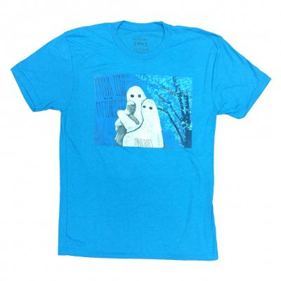 frank-iero - Parachutes Album T-Shirt (Heather Blue)