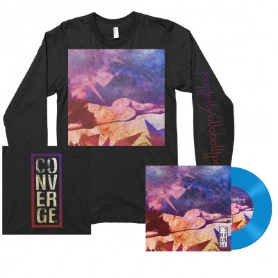 """Converge - I Can Tell You About Pain 7"""" (Blue) + Long Sleeve Tee (Black) Bundle"""