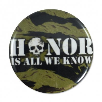 rancid - Honor Skull Camo Button