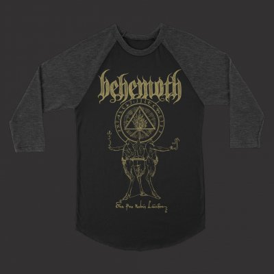 behemoth - Ora Pro Nobis Raglan (Black/Heather Grey)