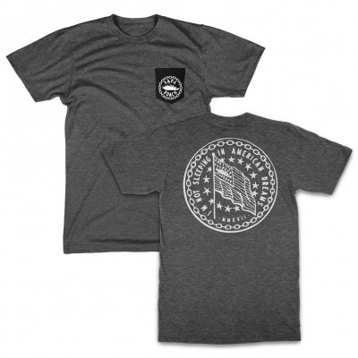 American Dreams Pocket T-Shirt (Heather Gray/Black