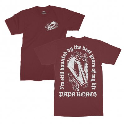 papa-roach - Haunted T-Shirt (Maroon)