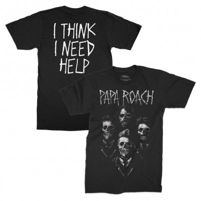 I Need Help Portrait T-Shirt (Black)