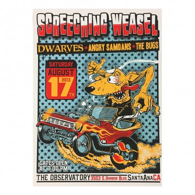 screeching-weasel - 8.17.13 Santa Ana Poster