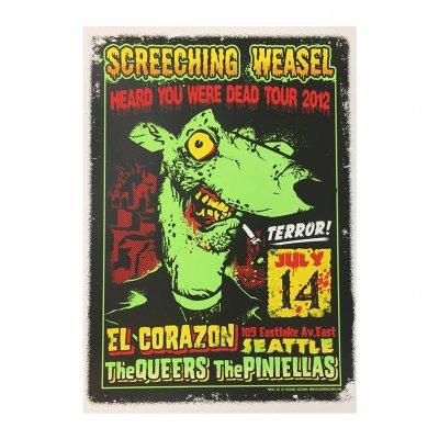 screeching-weasel - 7.14.12 Seattle Poster