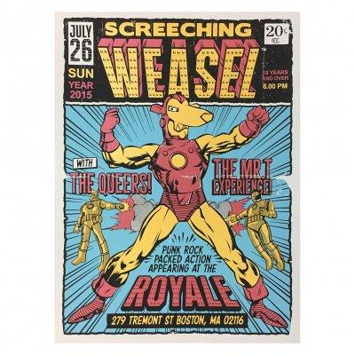 screeching-weasel - 7.26.15 Boston Poster