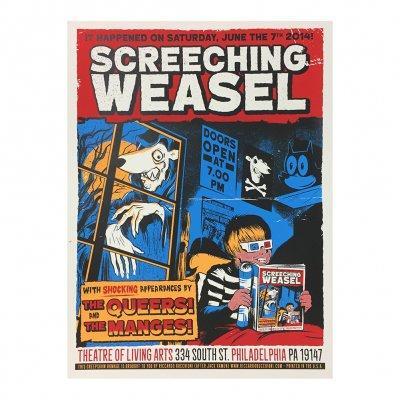screeching-weasel - 6.7.14 Philadelphia Poster