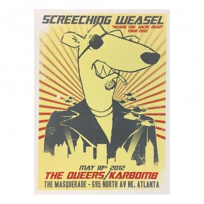 screeching-weasel - 5.18.12 Atlanta Poster
