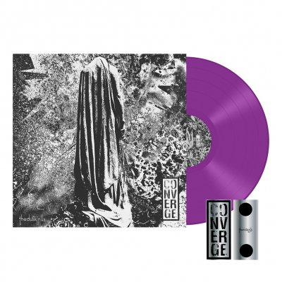 converge - The Dusk In Us LP (Violet) + Stacked Logo Enamel Pin Bundle Bundle