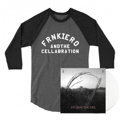 frank-iero - .STOMACHACHES. LP (White) + Raglan Bundle
