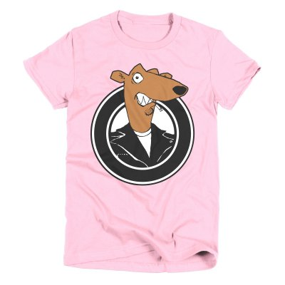screeching-weasel - Women's Color Weasel T-Shirt (Pink)