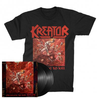 valhalla - Pleasure To Kill 2xLP (180g Black) + Pleasure To Kill T-Shirt (Black) Bundle