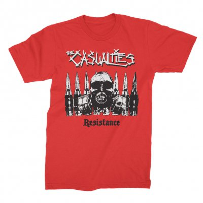 the-casualties - Resistance Tee (Red)