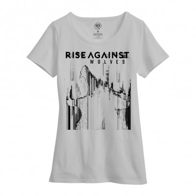 rise-against - Womens Wolves Bold Tee (White)