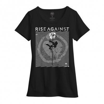 rise-against - Womens Optic Rose Tee (Black)