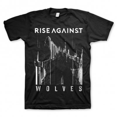 rise-against - Wolves Bold Tee (Black)