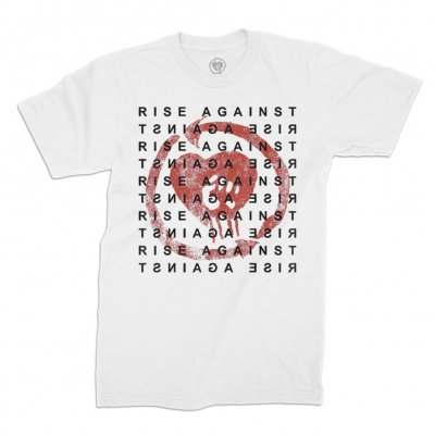 rise-against - Repeater Heartfist Tee (White)