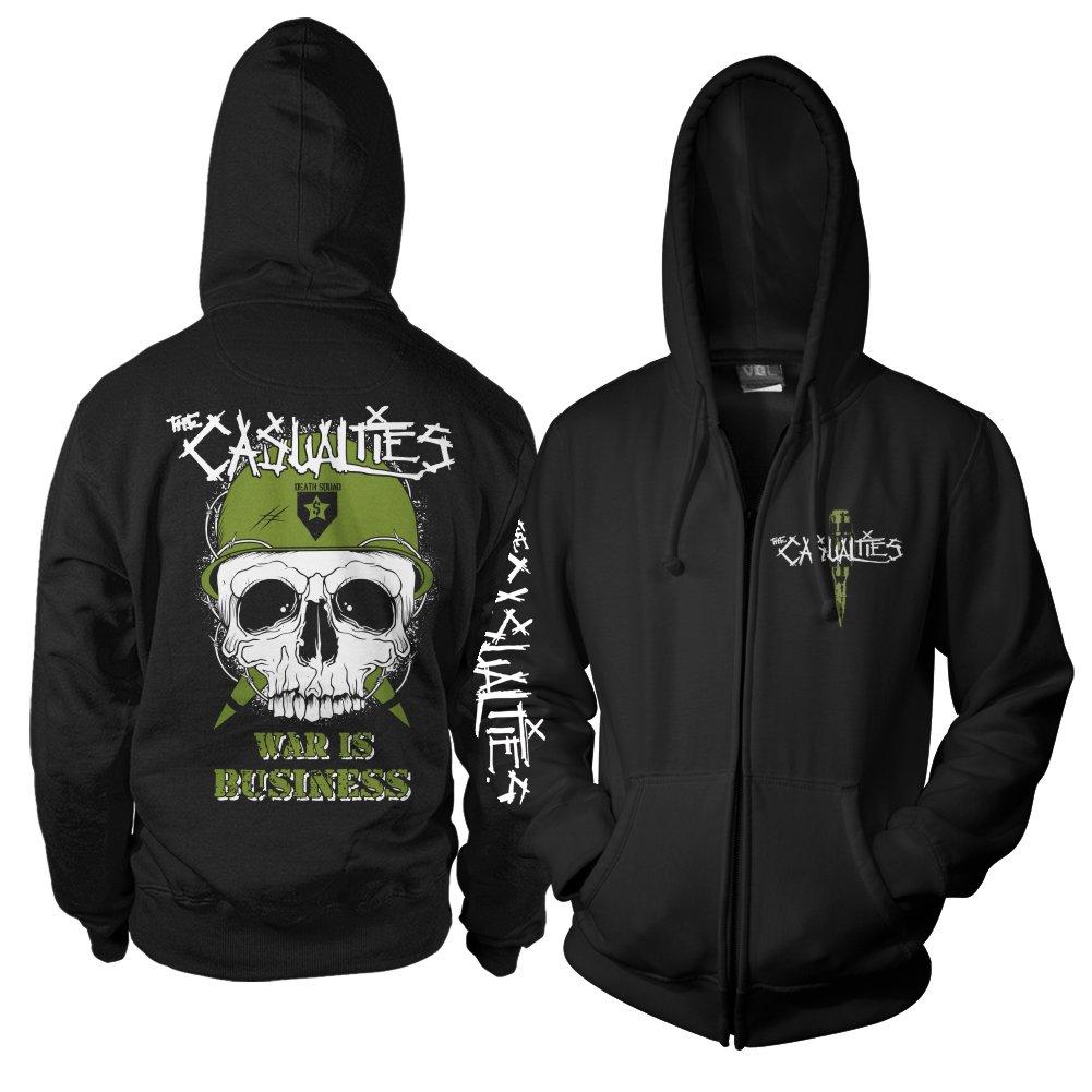 War Skull Zip Hoodie (Black)