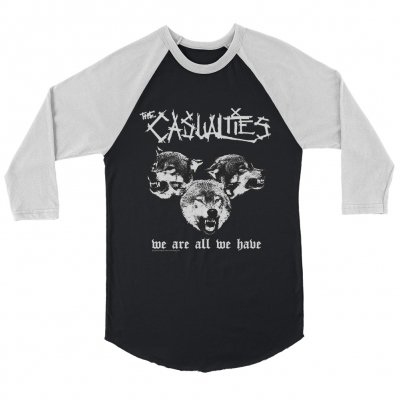 the-casualties - We Are All We Have Raglan (Black/White)