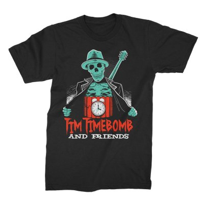 Skele-Tim Tee (Black)