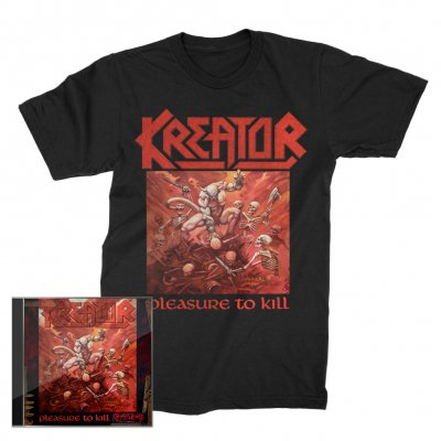 valhalla - Pleasure To Kill CD + Pleasure To Kill T-Shirt (Black) Bundle