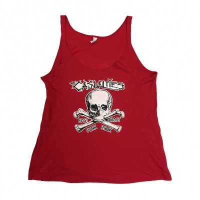 the-casualties - East Coast Skull Womens Tank (Red)