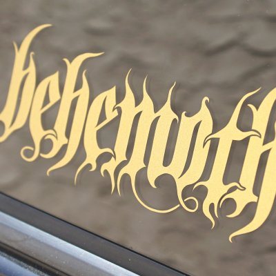 behemoth - Gold Logo Decal
