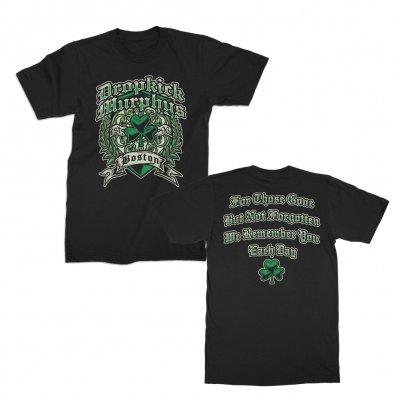 dropkick-murphys - Boston Irish Heart Tee (Black)
