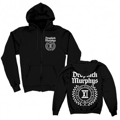 dropkick-murphys - DKM Short Stories Crest Hoodie Zip-up (Black)