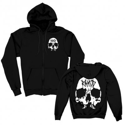 rancid - Skull Zip-Up Hoodie (Black)