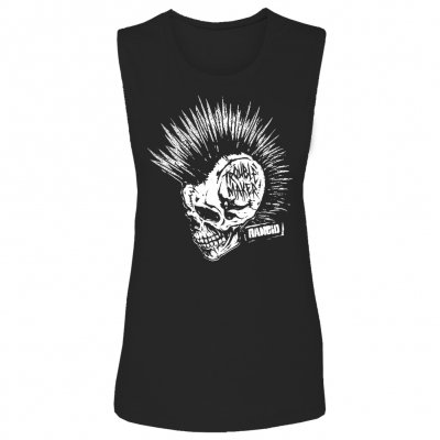 rancid - Womens Trouble Maker Skull Muscle Tank (Black)