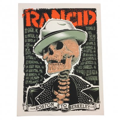 "rancid - From Boston To Berkeley Tour Print (18""x24"")"