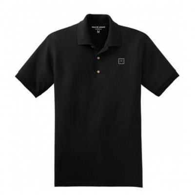 touche-amore - Embroidered Logo Polo (Black)