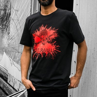 fc-st-pauli - Splash Crossbones Tee (Black/Red)
