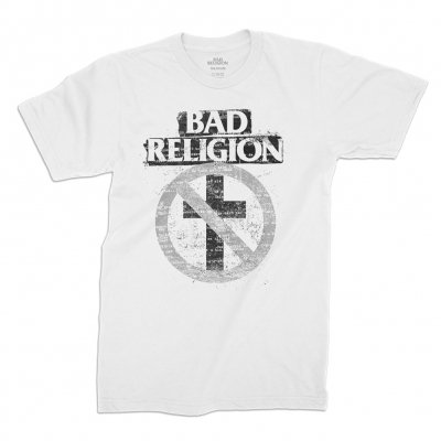 bad-religion - Typewriter Crossbuster Tee (White)