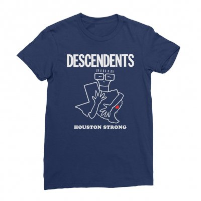 descendents - Houston Strong Fundraiser Women's Tee (Blue)