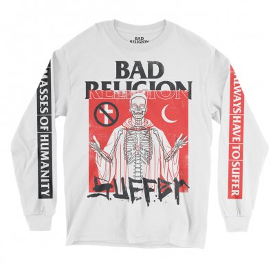 bad-religion - Suffer Long Sleeve Tee (White)
