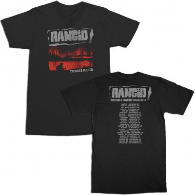 rancid - Trouble Maker Cover Tour Date Tee (Black)