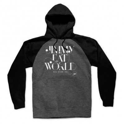 jimmy-eat-world - Swoop Raglan Pullover Hoodie (Charcoal/Black)