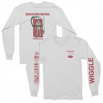 screeching-weasel - Wiggle Long Sleeve (White)