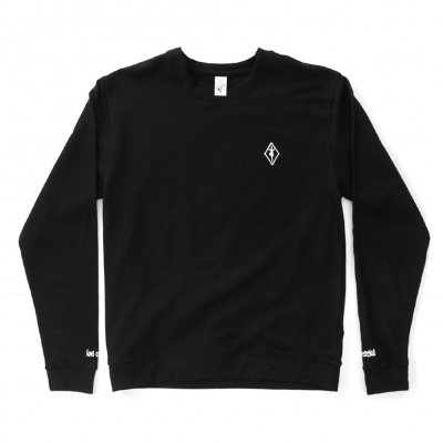youth-code - Embroidered Crew Neck (Black)