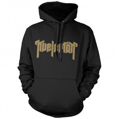 Gold Logo Pullover Hoodie (Black)