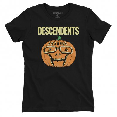 descendents - Ltd. Milo Pumpkin Halloween Glow Womens Tee (Black