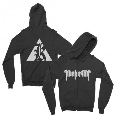 kvelertak - Big K Logo Zip-Up Hoodie (Black)