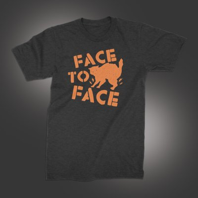 face-to-face - Halloween Cat T-Shirt (Heather Black)