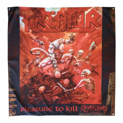 "kreator - Pleasure To Kill Flag 48"" x 48"""