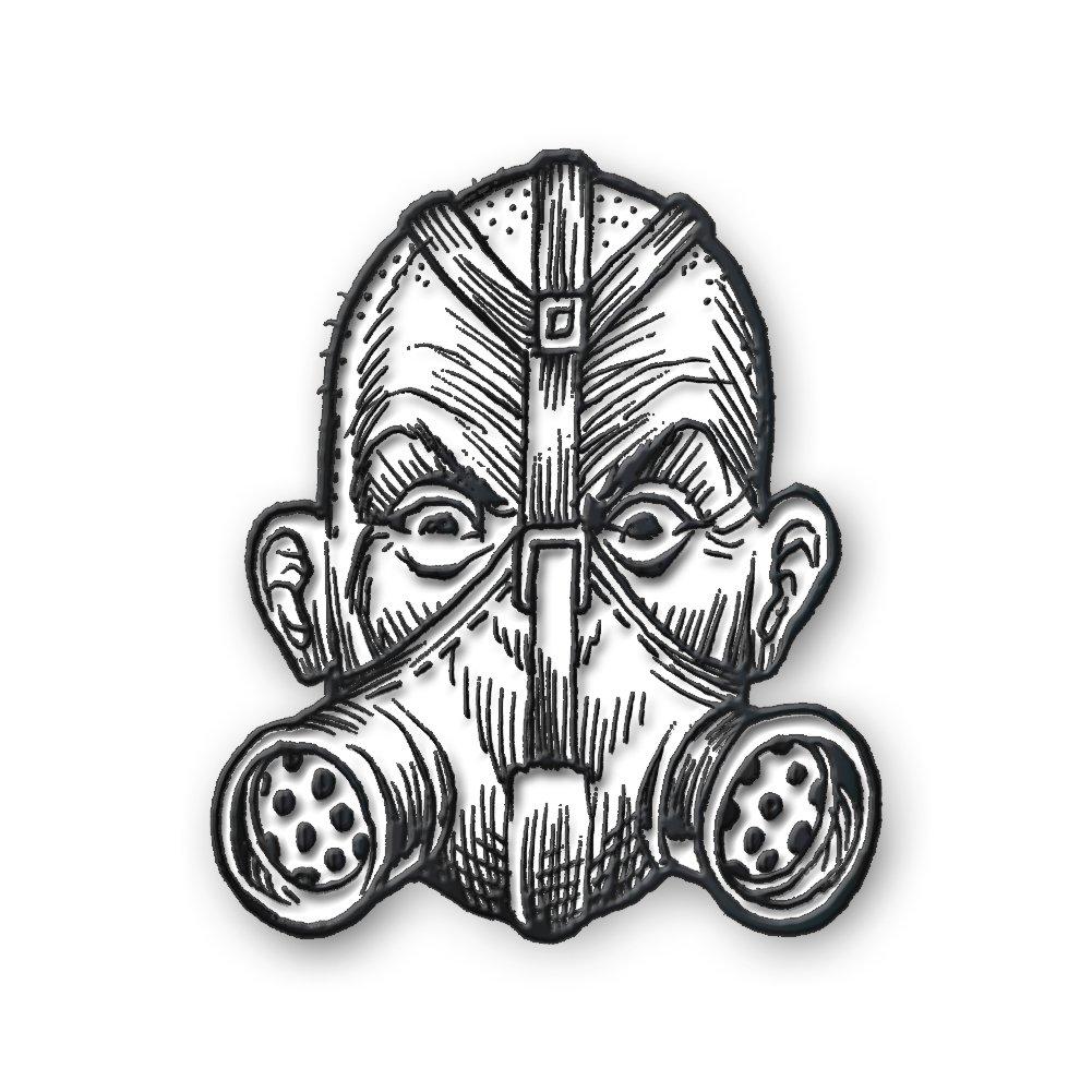 IMAGE | Gas Mask Enamel Pin