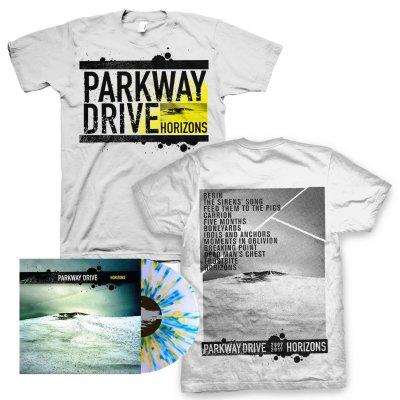parkway-drive - Horizons LP (Splatter) + Ltd. Horizons Album Tee (White) Bundle