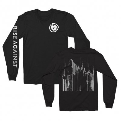 rise-against - Wolves Static Longsleeve Tee (Black)