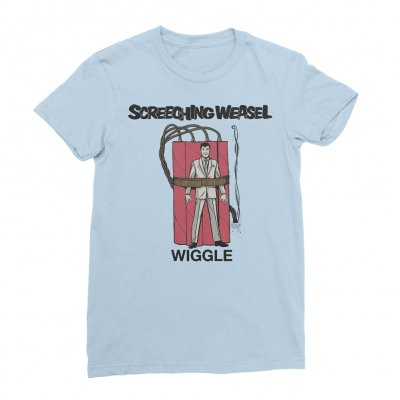 screeching-weasel - Wiggle T-Shirt - Women's (Light Blue)